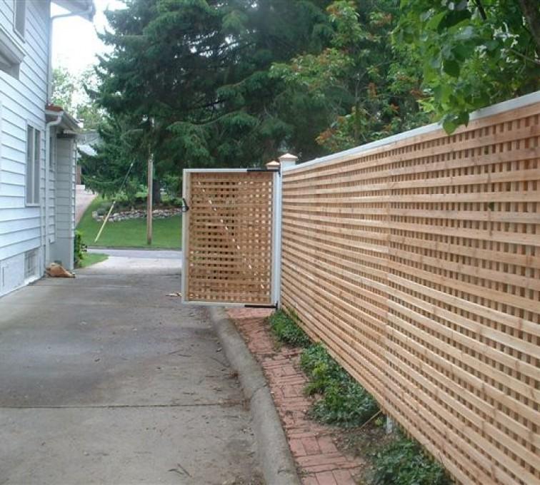 AFC Grand Island - Wood Fencing, 1029 Lattice Fence