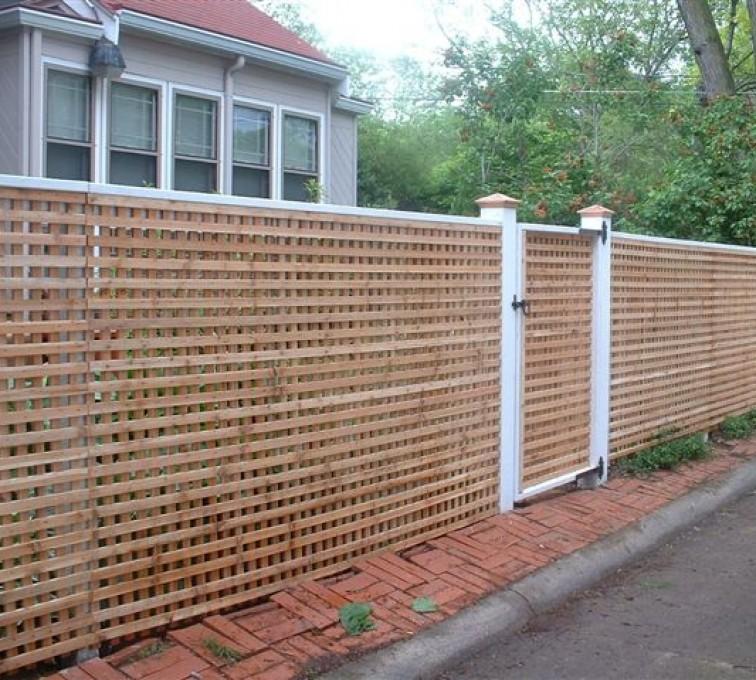 AFC Grand Island - Wood Fencing, 1030 Lattice Fence