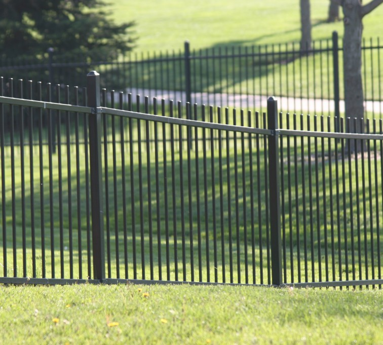 AFC Grand Island - Ornamental Fencing, 1052 4' Alternating Picket 2 rail black