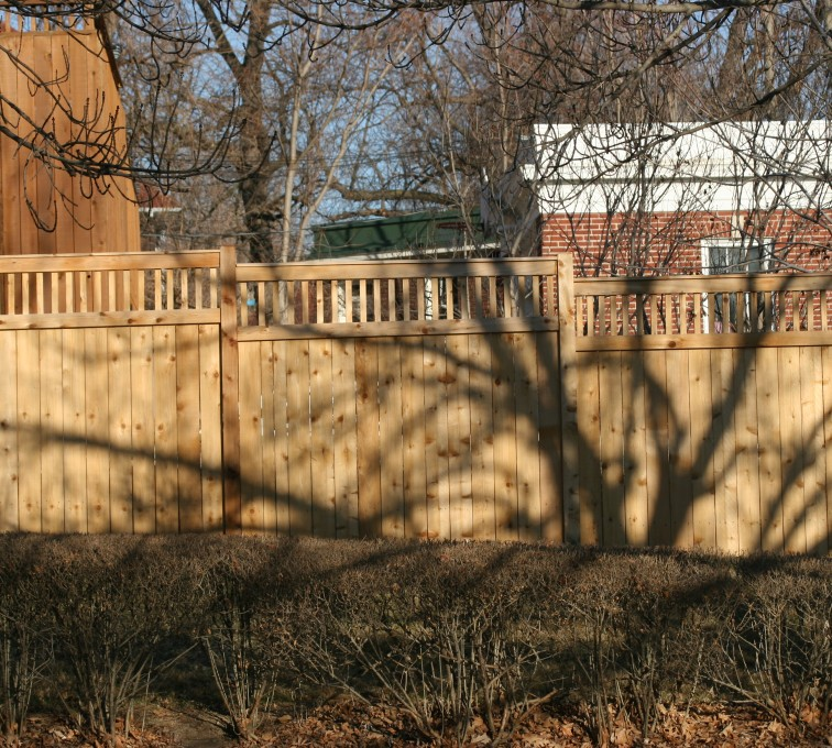 AFC Grand Island - Wood Fencing, 1053 Custom Solid with Accent Top