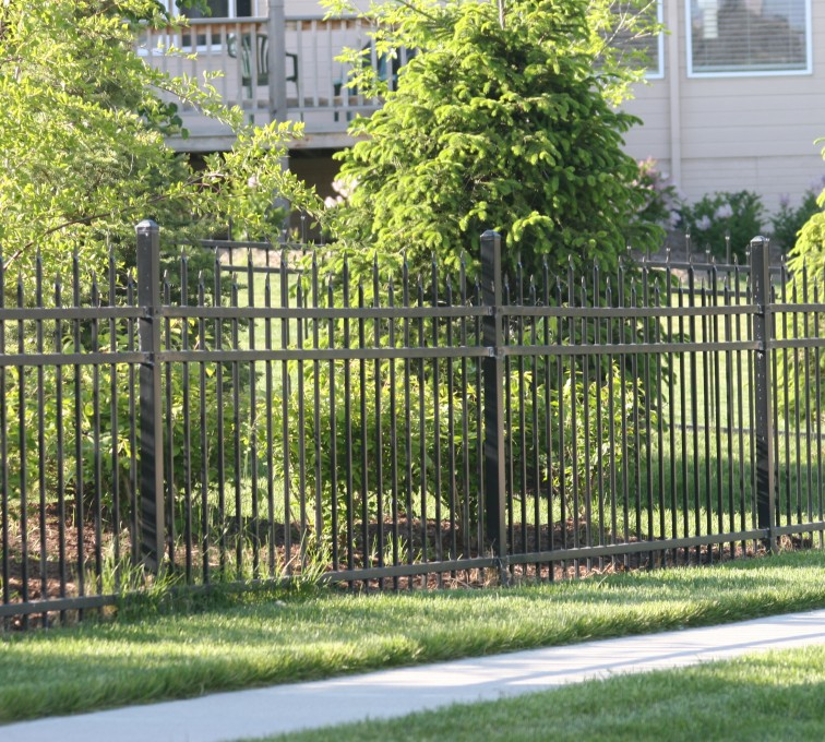 AFC Grand Island - Ornamental Fencing, 1055 4' 3 rail black 4