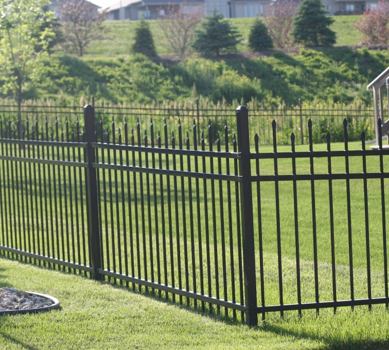 AFC Grand Island - Ornamental Fencing, 1056 4' 3 rail black