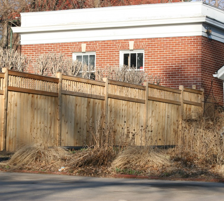 AFC Grand Island - Wood Fencing, 1061 Custom Solid with Accent Top