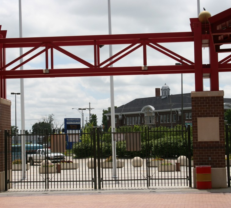 AFC Grand Island - Ornamental Fencing, 1070 Spear Top Bronze Rosenblatt Stadium