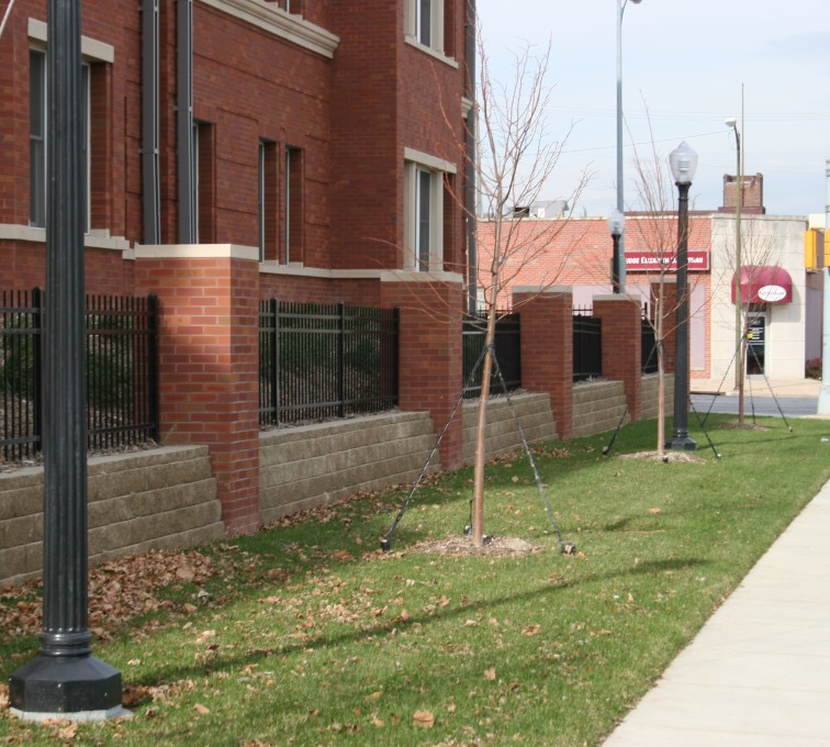 AFC Grand Island - Ornamental Fencing, 1073 Spear top Black Creighton Student Housing
