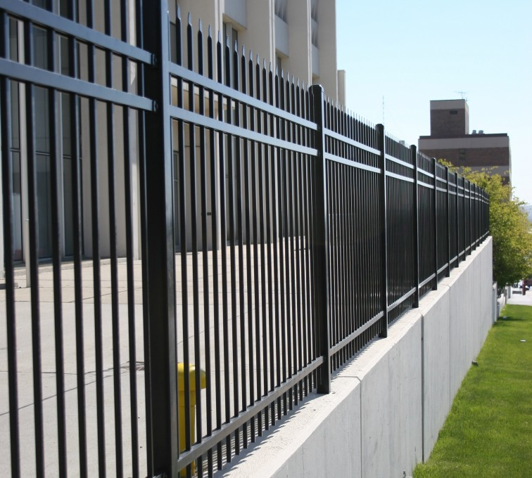 AFC Grand Island - Ornamental Fencing,1075 Spear Top Black Energy Services Fence 2