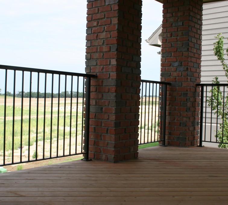 AFC Grand Island - Custom Railing, 2210 Deck railing