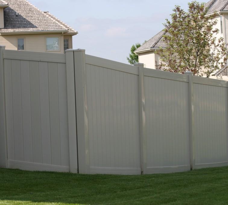 AFC Grand Island - Vinyl Fencing, 6' solid privacy tan (620)