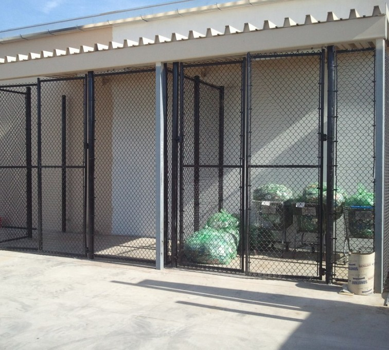 AFC Grand Island - Chain Link Fencing, 8' Chain Link Recycling Enclosure - AFC - IA