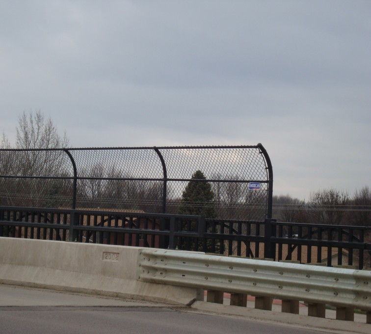 AFC Grand Island - Chain Link Fencing, Black Vinyl Chain Link Pedestrian Canopy AFC, SD