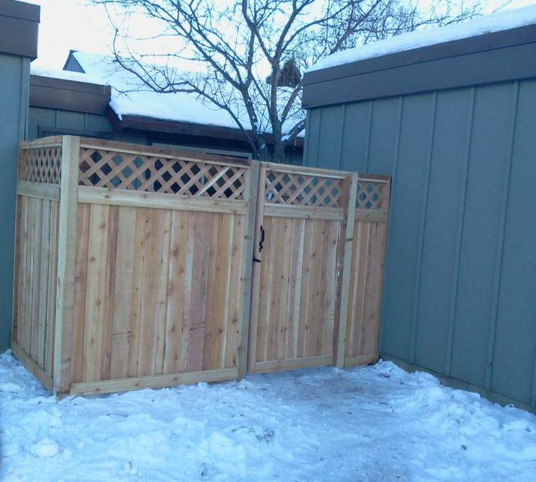 AFC Grand Island - Wood Fencing, Custom Wood Privacy with Lattice AFC, SD