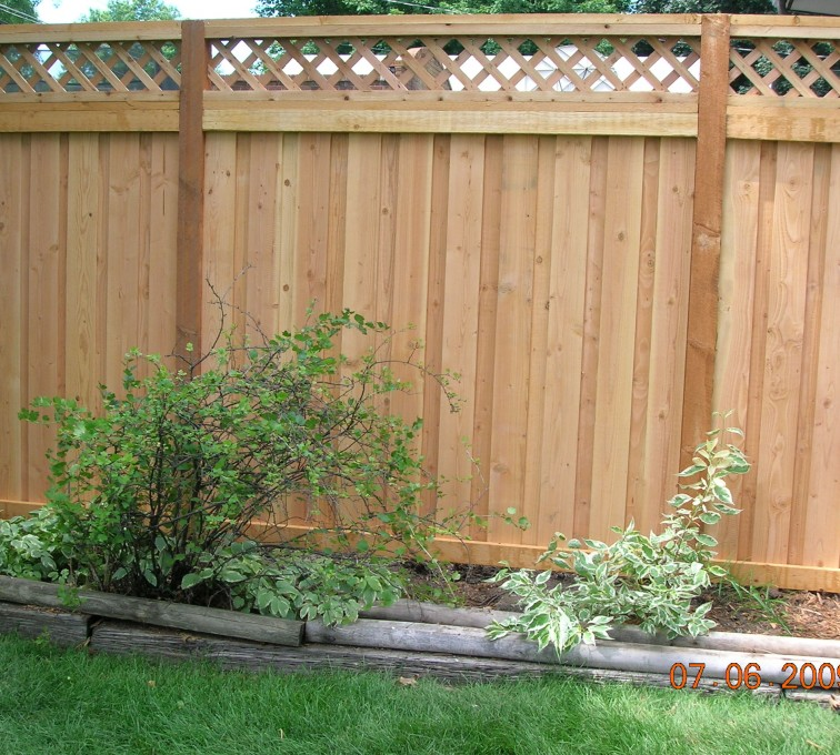 AFC Grand Island - Wood Fencing, Custom with Lattice-A