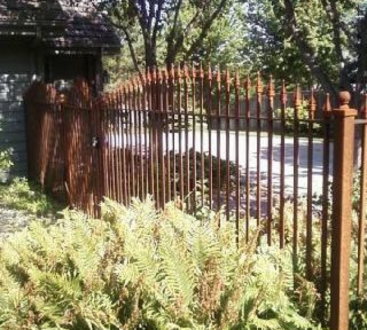 AFC Grand Island - Custom Iron Gate Fencing, Customer Rusted Wrought Iron AFC, SD