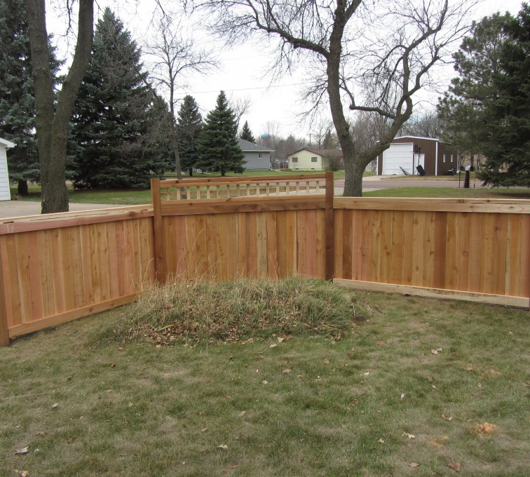 AFC Grand Island - Wood Fencing, Decorative Cedar Privacy with Picket Accent AFC, SD