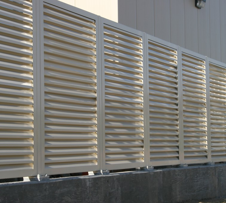 AFC Grand Island - Louvered Fence Systems Fencing, Louvered Fence Panel System In Tan
