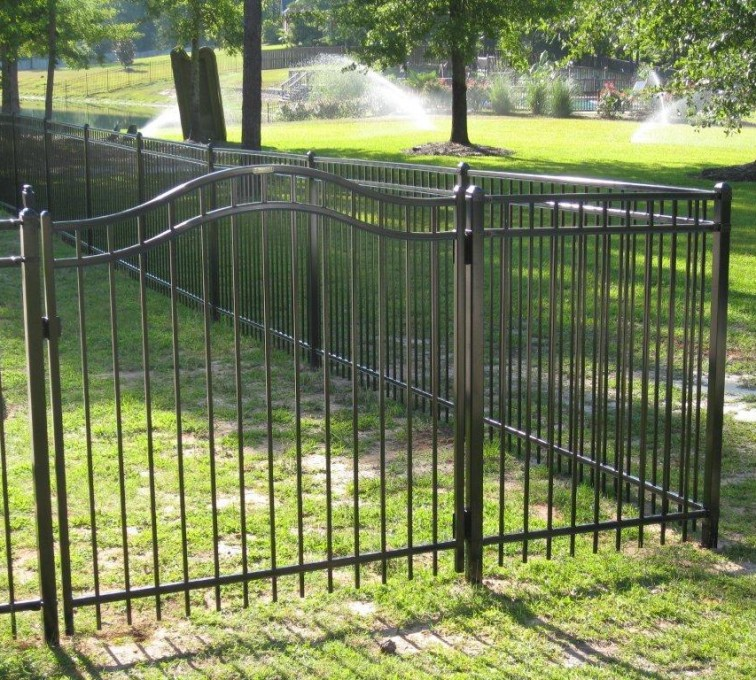 AFC Grand Island - American Ornamental Fencing, Flat Top with Arched gate (2)