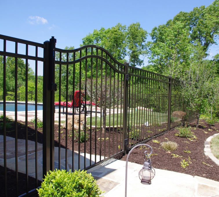 AFC Grand Island - American Ornamental Fencing, Flat Top with Arched gate