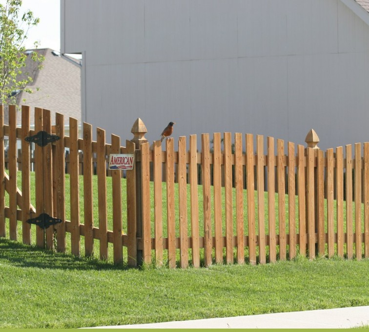 AFC Grand Island - Wood Fencing, Overscalloped Picket with French Gothic Posts - AFC -IA