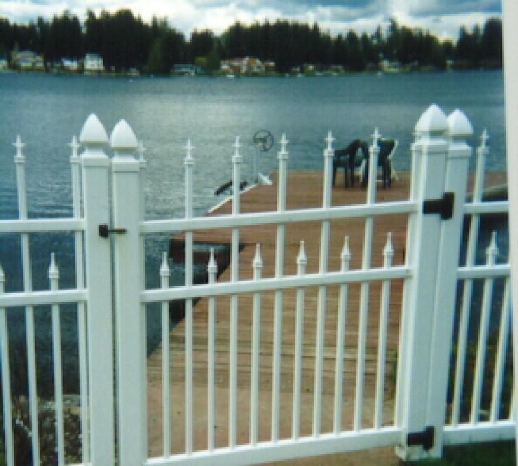 AFC Grand Island - Vinyl Fencing, Ornamental Conquer Gate 858