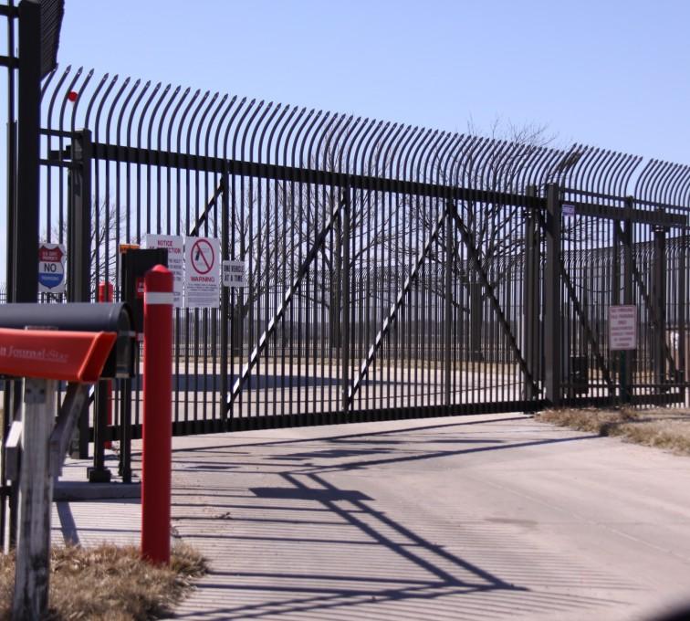 AFC Grand Island - Custom Gates, Ornamental Slide Gate with Radius Picket Accent