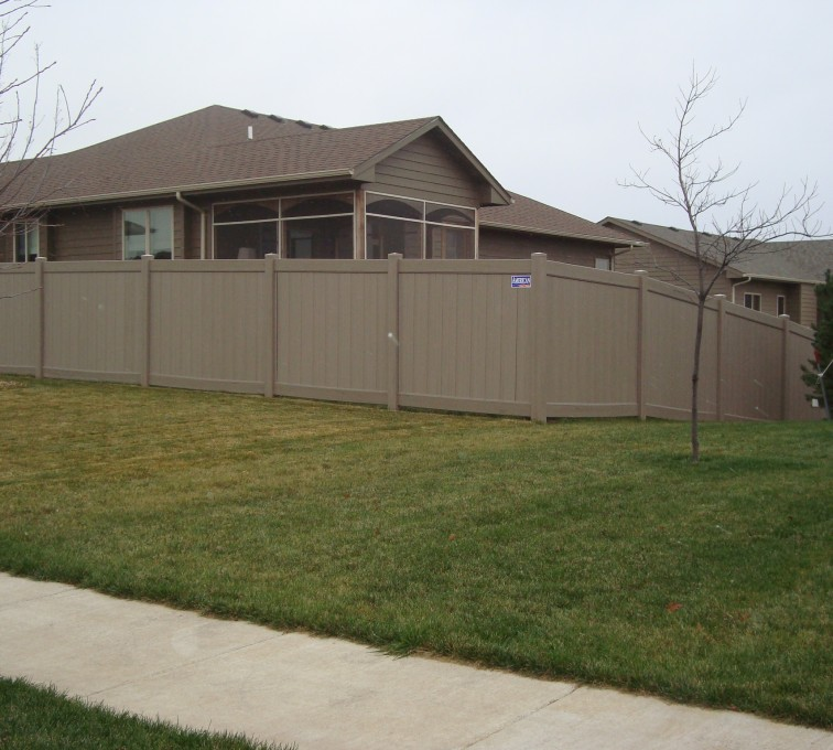 AFC Grand Island - Vinyl Fencing, Solid Privacy - Woodland Select