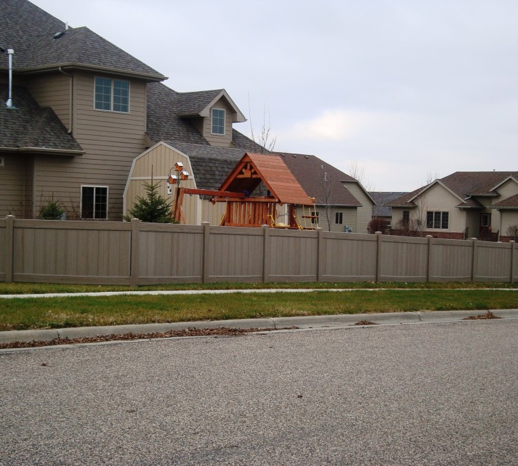 AFC Grand Island - Vinyl Fencing, Solid Privacy Woodland Select