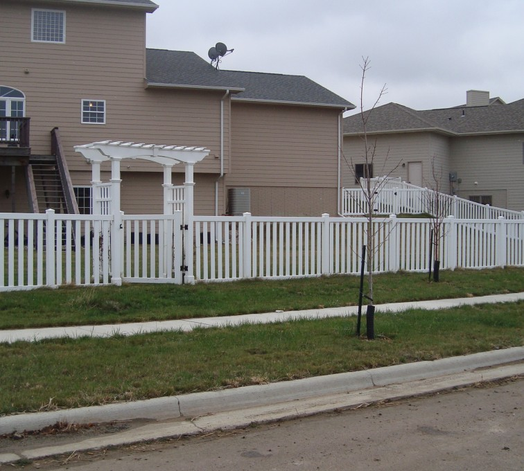 AFC Grand Island - Vinyl Fencing, Arbor and Closed Picket AFC, SD