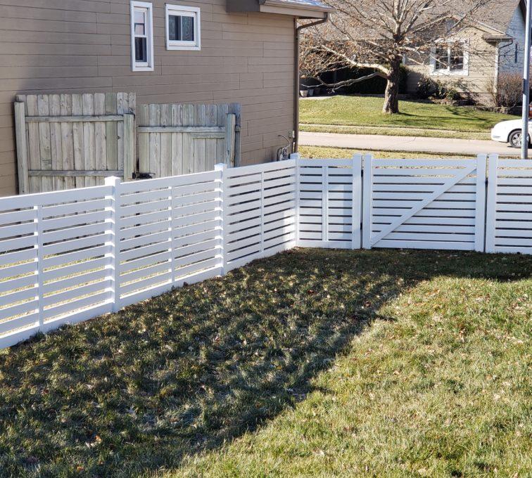 4' White Vinyl Horizontal Picket Fence