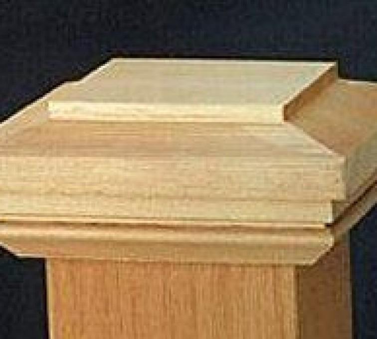 AFC Grand Island - Accessories, Hatteras Style Cedar Wood Fence Post Cap