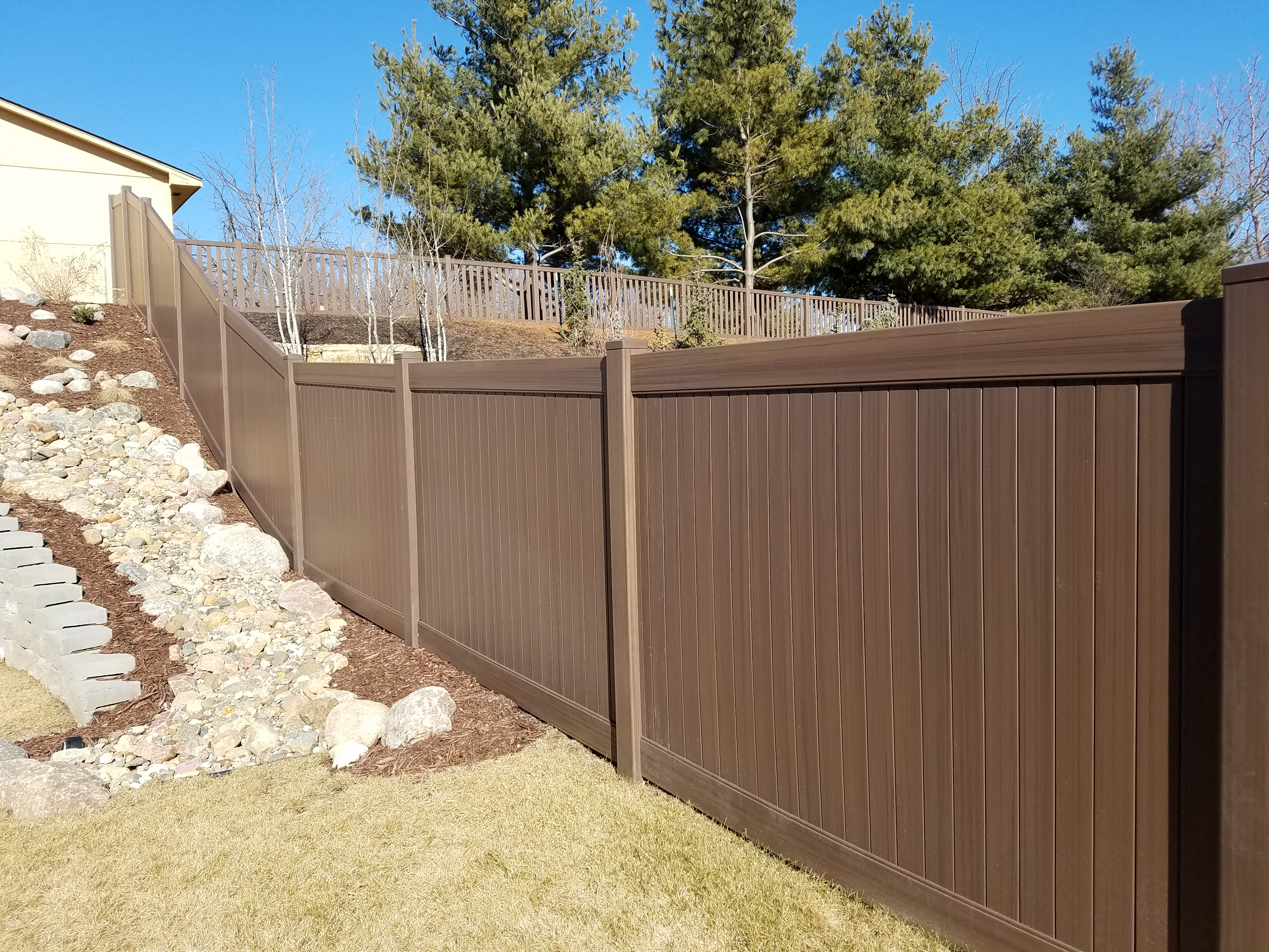 Beautiful Chestnut Brown Woodland Select Fence American