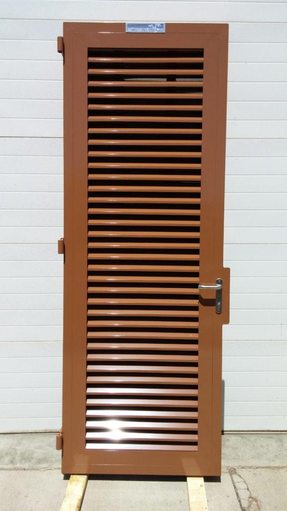 Powder coated brown industrial door